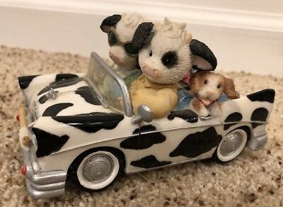 "Mary's Moo Moos ""I've Got You in the Front Seat of My Heart"" Figurine"