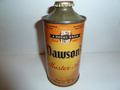 DAWSONS IRTP MASTER ALE CONE TOP BEER CAN - Great Condition