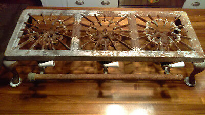 Vintage antique SIMPLEX 3 burner cast iron gas stove camp table top