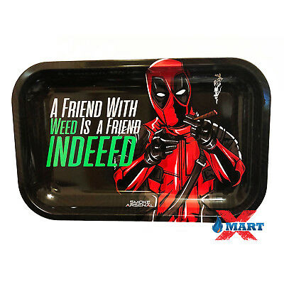 Smoke Arsenal DANKPOOL FRIEND Tobacco Metal MEDIUM Rolling Tray 11x7