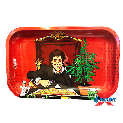 Smoke Arsenal DANKFACE Tobacco Metal MEDIUM Rolling Tray 11x7