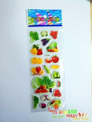 1PC Alive Stickers Fruit & Vegetable Craft Xmas Lifelike Kid Party Toy Gift 2019
