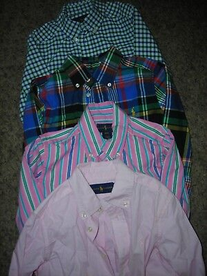 NEW Polo Ralph Lauren Toddler Boys Dress and Flannerl Shirt Lot 4T Striped Plaid