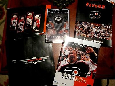 Lot of PHILADELPHIA FLYERS Items Posters Papers Pucks Season Ticket Programs