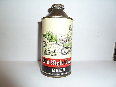 OLD STYLE LAGER  IRTP CONE TOP BEER CAN G.HEILEMAN Lacrosse, Wisc. - EXCELLENT