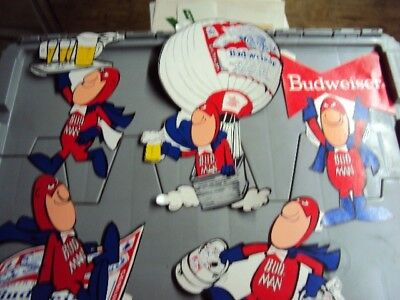 """VINTAGE BUDWEISER """"BUD MAN"""" STICKERS NOS from the 70's"""