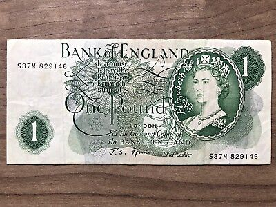 Bank of England 1 One Pound Note Series C Circulated