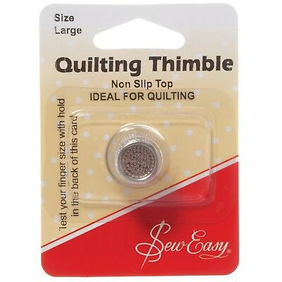 Sew Easy High Quality Thimble Nickel Plated Large Non Slip Quilting Sewing Bnew