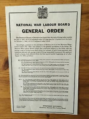 1942 Wwii Canada War Canadian Ad  Wartime Wages Laws Labour Board