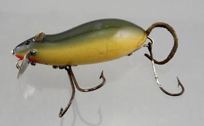 Vintage Antique Tackle Heddon Meadow Mouse Old Wood Collectible Fishing Lure