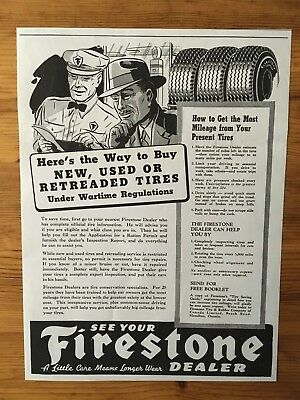 1942 Wwii Canada War Canadian Ad  Wartime Regulations For Tires Ration Rationing