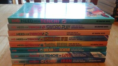 No Need for Tenchi Manga English Used Vol 1-8