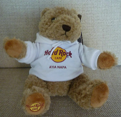 Hard Rock Cafe AYIA NAPA HRC CLASSIC Teddy Bear PLUSH with TAG Brand New