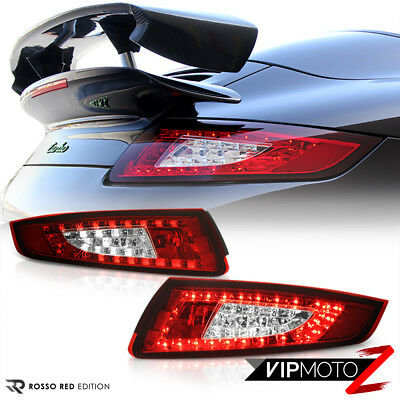 05-08 Porsche 997 911 CARRERA 4 S GT2 GT3 RED/CLEAR LED Tail Light  Brake Lamp