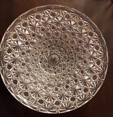 Fine Antique AMERICAN BRILLIANT Cut Crystal ABP Round Platter Bowl 19th Cent