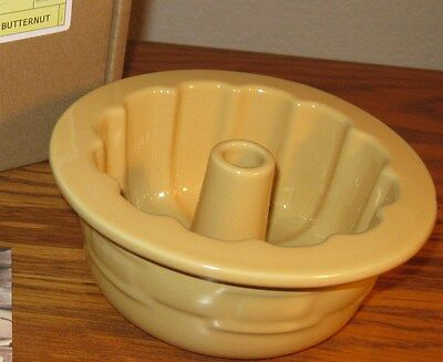 Longaberger Pottery ~ Bundt Pan ~ BUTTERNUT YELLOW ~ NIB ~ READY TO SHIP