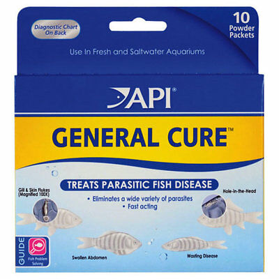 API General Cure Powder 10 count for Freshwater Saltwater Fish Aquariums