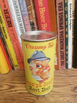 Gran'pa Graf's Root Beer Flat Top Soda Can     High Grade!
