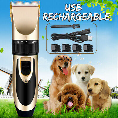 Pet Cat Dog Clipper Hair Shaver Grooming Electric USB Rechargeable Trimmer Kit !