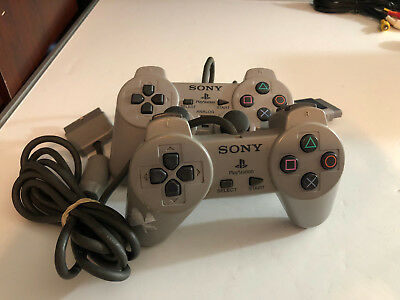 LOT of 2 Sony Playstation 1 PS1 Official Gray  Controllers SCPH 1200