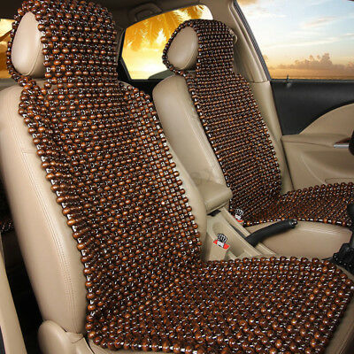 Wood BEAD DESIGN CAR/VAN/TAXI FRONT Seat Cover Massage Cushion Comfortable Pad !