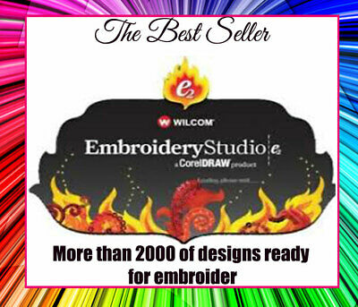 Wilcom E2 Embroidery Studio With Corel Draw, 7,8 and 10 Full Send To Your Email