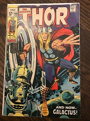 Thor #160 marvel 1969 silver age: And Now Galactus!