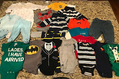 Lot of 20 Pieces Newborn Baby Boys Mixed Brands Preowned