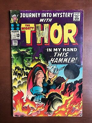 Journey into Mystery #120 (1965) 4.0 VG Marvel Key Issue Silver Age Thor Loki