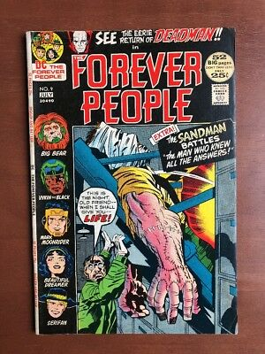 The Forever People #9 (1972) 6.5 FN DC Key Issue Comic Deadman App