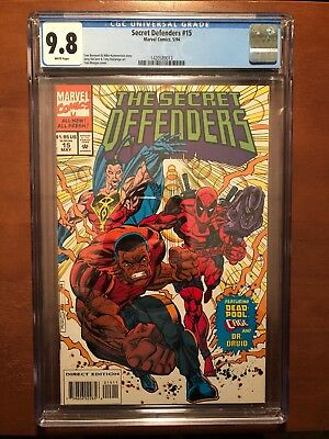 Secret Defenders #15 (1994) 9.8 CGC NM Marvel Key Issue Comic Book Deadpool App