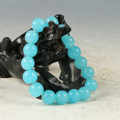 Chinese Hand-carved Natural Jade Bead Bracelet RS011+a
