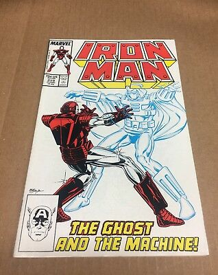 IRON MAN #219 1987 1st GHOST! SHARP VF/NM Avengers Marvel Bronze Age Comics