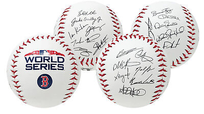 Rawlings Boston Red Sox 2018 World Series Autograph Roster Champions Baseball