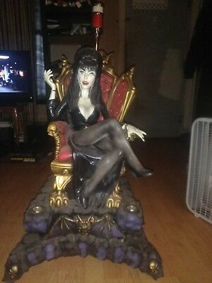 Elvira Slot Machine Topper.....nice Original Colors.....dusty From Attic