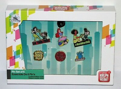 Disney Vanellope and Princesses from Ralph Breaks the Internet Pin Set  (Limited