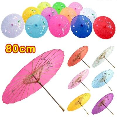 2018 Chinese Japanese Umbrella Art Deco Painted Parasol For Wedding Dance Party