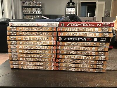ATTACK ON TITAN Manga Book Series; Excellent condition!  Volumes 1-20