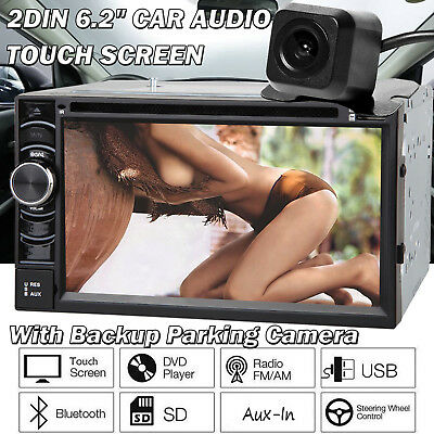 """For BMW 6.2"""" Double 2 DIN Car DVD Player Audio Stereo Touch Head Unit w/ Camera"""