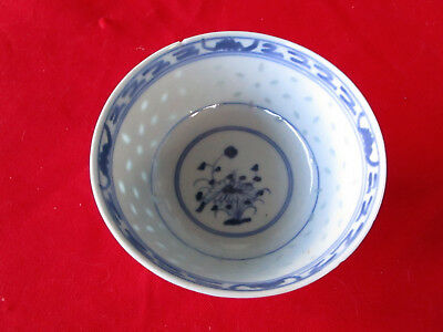 Vintage Chinese Japanese Footed Hand Painted Ceramic China Bowl w Maker Mark Old