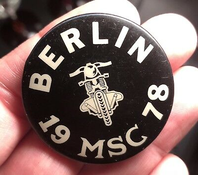 Rare 1978 Berlin Gay Queer Leather Msc Bar Pinback Button