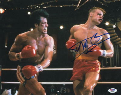 Dolph Lundgren Signed 11X14 Photo Authentic Autograph Rocky Creed Drago Psa A