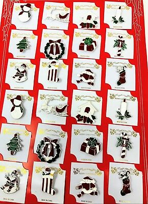 wholesale Lot of 24 pcs pretty Vintage Brooches/pin for Christmas color Silver.