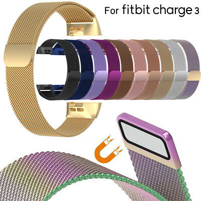 Watch Band Stainless Steel Magnetic Milanese Strap For Fitbit Charge 3