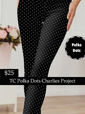 2474b7fb98d0a3 Brand New With Tags TC B/W Polka Dots Leggings Charlies Project Fits:16