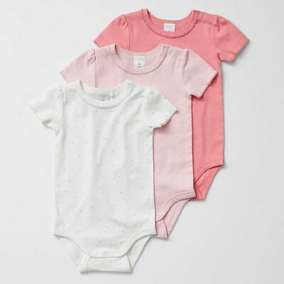 NEW Baby Organic Cotton 3 Pack Bodysuits