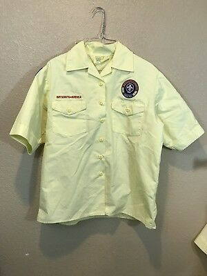 Boy Scouts Of America Official Blouse Yellow Size Medium