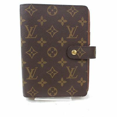 Authentic Louis Vuitton Diary Cover Agenda MM Browns Monogram 367007