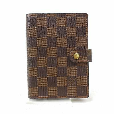 Authentic Louis Vuitton Diary Cover Agenda PM Browns Damier 367013