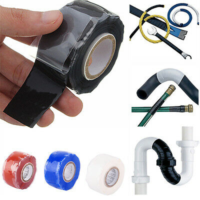 Silicone Repair Tape Self Fusing Bonding Pipe Electrical Wires Hose 25mm-3m HFT